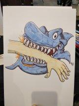 Hai beißt Hand
